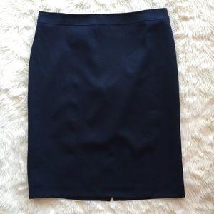 J. CREW New Navy Blue Wool SUIT SKIRT pencil 8 P